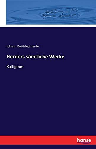 Herders saemtliche Werke: Kalligone