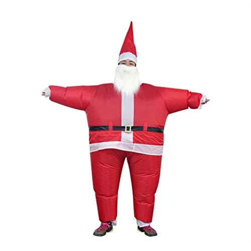ZYX Selbst Aufblasende Aufblasbare Santa Claus LED Sprengen Weihnachten Indoor-Und Outdoor Weihnachten Erwachsenen Kostüm Ball, Rollenspiel
