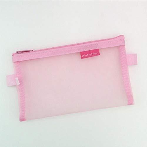 Federmäppchen Transparent Grid ZipperBlister CoverCase Aufbewahrungspaket für GrilsScraper Holder Hule Liefert19.5 cmx12 cm