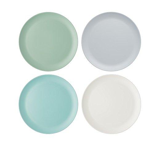 farbige teller Kitchen Craft CWCLMPLATE11PK4 Colourworks Extra große Unzerbrechliche MelaminEssteller, klaßiker farben, 28 x 28 x 1,8 cm