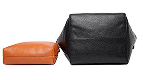 Maibaoma Pu Niedlich Damen Handtaschen, Hobo-Bags, Schultertaschen, Beutel, Beuteltaschen, Trend-Bags, Velours, Veloursleder, Wildleder, Tasche Schwarz