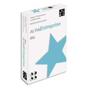 Altia Entreprise C Lot de 5 Ramette de 500 feuilles papier blanc 80 g A4