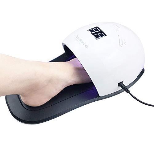 GYUYDFFS Nageltrockner 48W LED/UV Nail Dryer Polish Curado lámpara con almohadilla de alimentos para la mano pie manicura Nail Art Tool Máquina de uñas uñas de secado, color como imagen muestra