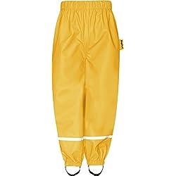 Playshoes Buddelhose Pantalones Impermeable Color Amarillo Para Bebés