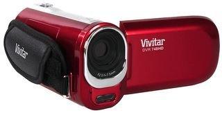 Vivitar DVR748HD 12.1MP Videorekorder mit 4fachem Digitalzoom (Rot) Zoom Vivitar Vivicam