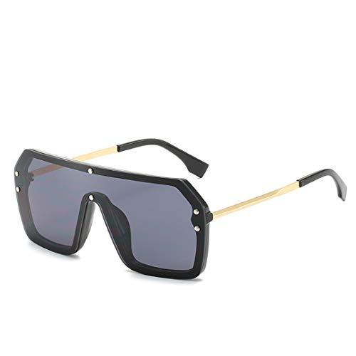 DAIYSNAFDN Sonnenbrillen Damen Large Frame Luxury Design Sonnenbrillen Herren Uv400 Black Black