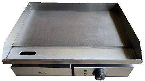 Kommerzieller Stahl Bratpfanne Elektrische Flach Heizplatte Burger Grill Friteuse 550mm Breit