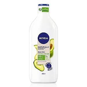 Nivea Naturally Good, Natural Avocado Body Lotion, For Normal to Dry Skin, No Parabens, 98% Natural Origin Ingredients, 350 ml