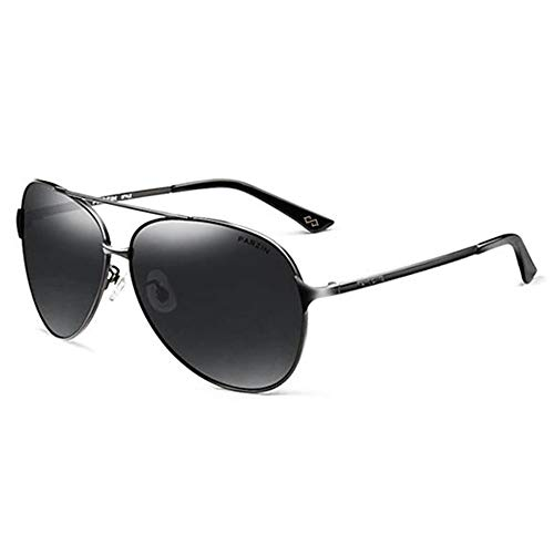 ANHPI Retro Kurzsichtigkeit Polarisator Paar Fahren UV-Schutz Sonnenbrille, 4 Farben (Color : #1)