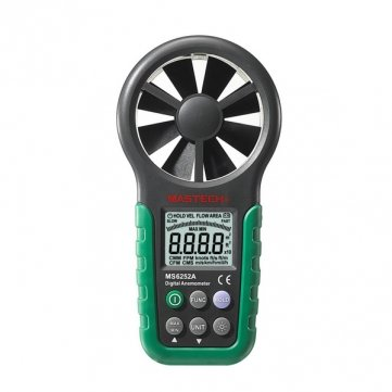 Hohe Qualität MASTECH MS6252A Digital-Anemometer Windgeschwindigkeit Meter mit Bar Graph Bar Graph Meter