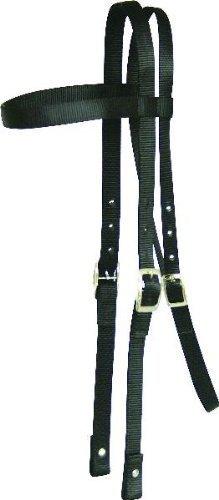 Abetta Draft Horse Nylon Headstall - Black - Draft Horse by ABETTA