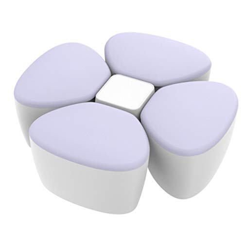 Havanayz, contenitore per latte in polvere per bambini, portatile, in polipropilene, a forma di fiore, contenitore per alimenti sigillato viola