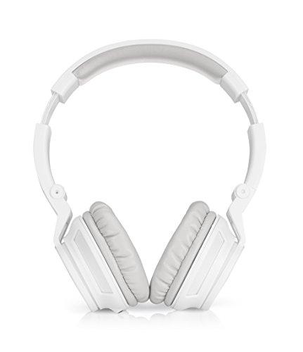 HP H3100 (T3U78AA) Over-the-Ear Kopfhörer (Rauschunterdrückung, Mikrofon, 3,5 mm Audiokabel) für Computer, Tablets, Smartphones, MP3-Player, Notebooks in weiß