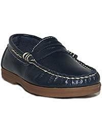 Deb&Dan - Zapato Mocasín T2139 Zapatos De Vestir Niño Azul Casual Cómodos