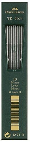 Preisvergleich Produktbild Faber-Castell 127111 - 10 Fallminen TK 9071, Minenstärke 2 mm, Härtgrad H