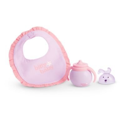 American Girl Bitty Baby - Bitty's Bib & Sippy for Dolls - Bitty Baby 2015 by American Girl