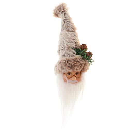 SM SunniMix Weihnachtsmann Hut Mütze Kostüm Abdeckung für Rot Weinflasche Champagner usw. - Grau, 17 x 8 x 7 cm