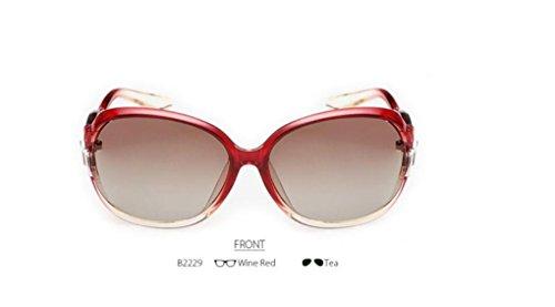 WANGMIN® Polarisierte Sonnenbrille Rosette Design Frauen Outdoor Gläser Luxus Damen Schmetterling Bunte Uv400 Schutz Eyewear , A (Gucci Damen-unterwäsche)