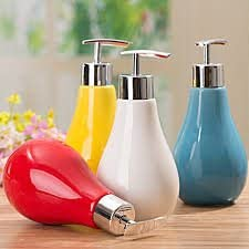 High Grade Ceramic Liquid Soap Dispenser (1 Pc)