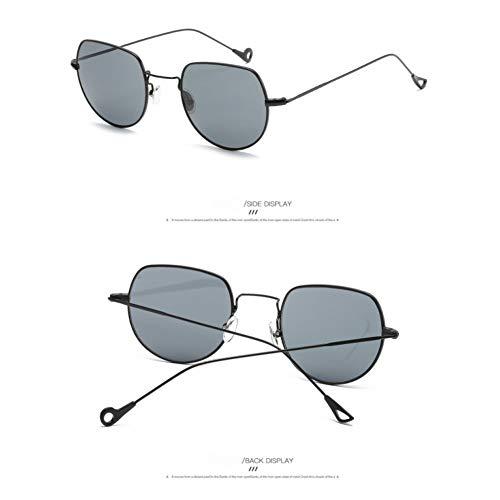 Taiyangcheng Gafas de sol de vidrio para Mujer,gris Negro