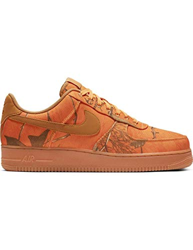 Nike Herren Air Force 1 '07 Lv8 3 Basketballschuhe, Mehrfarbig (Orange Blaze/Wheat/Gum Med Brown 800), 42 EU