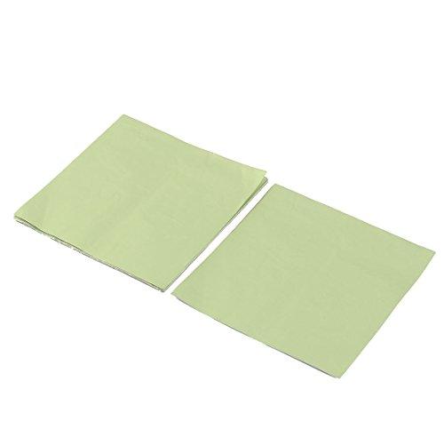 sourcing map Aluminum Foil Süßigkeit Schokolade Wrapper Tinfoil Papier Grün 10 x 10cm 100 Stück