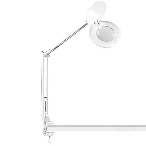 ZH-FDJ 10X Faltvergrößerungsglas, mit LED-Lichtlupe, für ältere Menschen, Jugendliche, Wartung der elektronischen Schaltung, Handy-Reparaturverstärkung, Gravurschweißinspektion