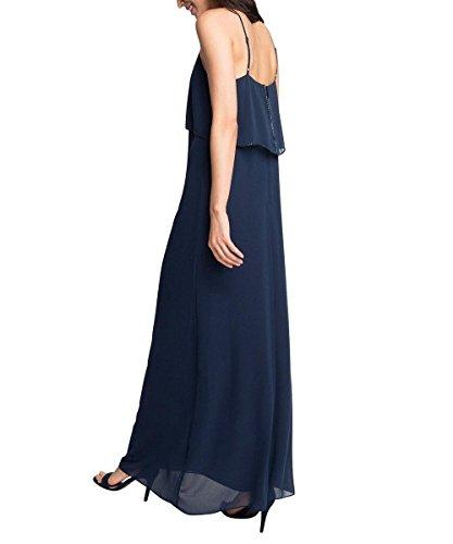 Esprit 066eo1e012-Delicate Chiffon, Robe Femme Bleu - Blau (NAVY 400)
