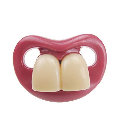 Divertido dos dientes delanteros Forma infantil Chupete