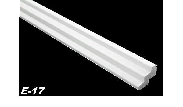30 Meter 4 Ecken Leisten Stuck Dekor Profile Polystyrol hart 19x30mm E-17