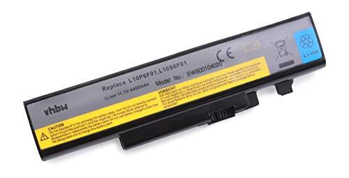 vhbw Batterie Li-ION 4400mAh (11,1 V) pour Lenovo IdeaPad Y Serie. Remplace Les Batteries: 057Y6625, 57Y6626, L10P6F01, L10S6F01, L10S6Y02.