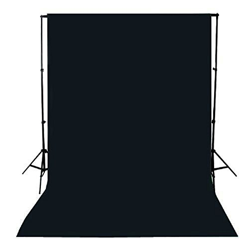 PIXAPRO Teleskop Hintergrundsystem Stand + Low schwarzem Hintergrund PIXAPRO Studio Fotografie Sexy Nackte Key Hintergrund Teleskop Ständer und 3 x 6 M Nesselstoff Baumwolle schwarz Länge 3 M dichterer Hintergrund D + 3 x 6 M Länge Nesselstoff schwarz (Teleskop-hintergrund-stand)