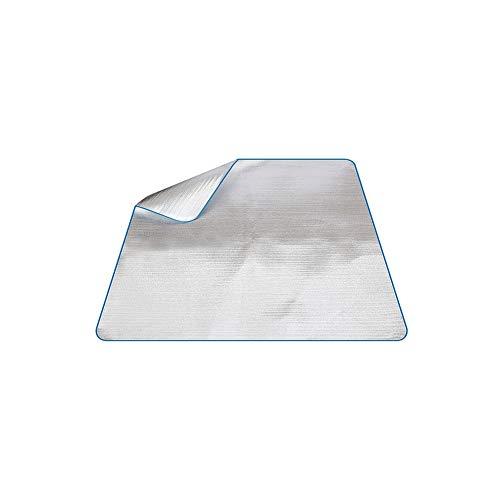 Ruiting Aluminium Foil Isomatte 200 * 150cm wasserdichte Picknick-Matte Folie Schaumstoffpolster Doppelseitige Folie Schlafenauflage