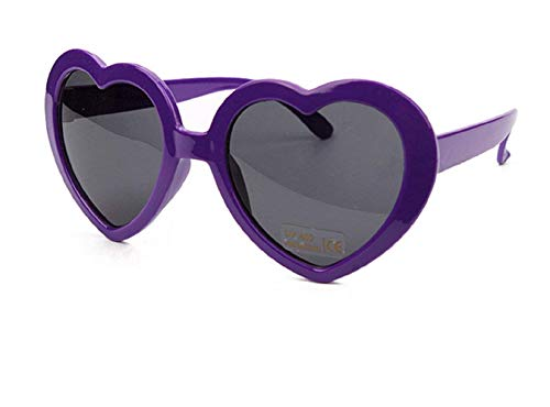 (Lila) Sonnenbrille - Herz - Damen - Lolita Style - Polarized Uv400 -