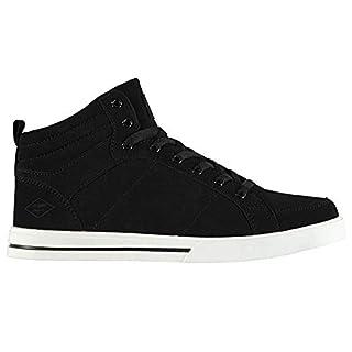 Lee Cooper Mens Padded Ankle Akron Hi Tops Footwear (12 (46), Black/White)