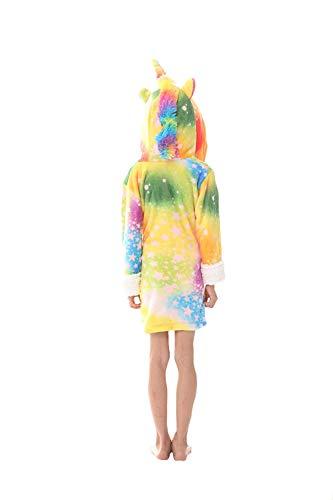 dressfan Kinder Tier Kapuzen-Roben Kleid Flanell Pyjamas Gewand Winter warm -