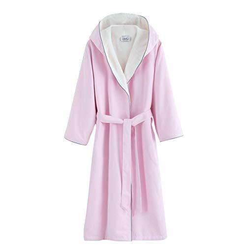 Extra Lange Bademantel Morgenmantel Schal Toga Robe Mit Kapuze Pyjamas Verdickung Badetuch Home Service | Weiblich | Rosa (größe : M)