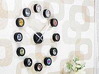 Designer-Wanduhr mit Ziffernblatt aus 12 Bilder