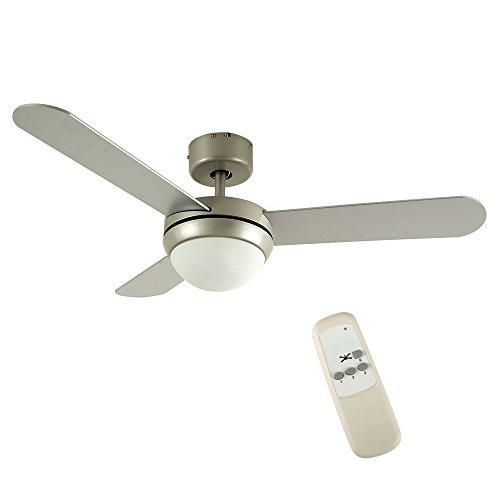 MiniSun - Moderno ventilador de techo con luz, de diseño y mando...