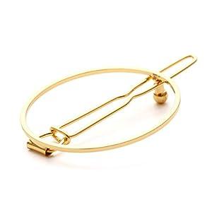 ACVIP Damen Mädchen Metall Hohles Haarnadeln Silber Gold Geometrische Forme Haarclips Haarspange