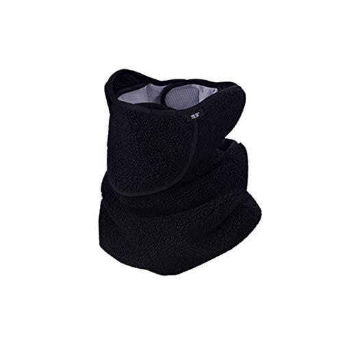 Nosterappou Masque de Ski Moto Chaud et Coupe-Vent imperméable, Tissu Confortable, Respirant et Chaud, adapté à l'hiver Froid, Protection Ultime (Couleur : Noir)