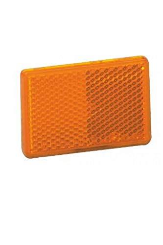 Catadióptrico rectangular naranja fijación adhesiva