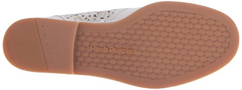 Hush Puppies Women's Cyra Catelyn Boot, Off White Perforated Suede, 10 M US Off White Perforated Suede