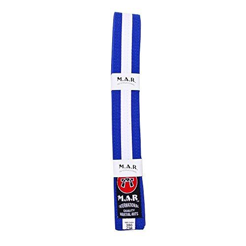 M.A.R International Ltd. MAR blau & weiß gestreift Gürtel-Karate Gürtel/Judo Gürtel, blau