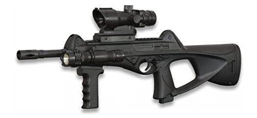 Arma de aire suave larga Cyma, ideal Airsoft, sistema de muelle, tamaño 63 cm, usa bolas de PVC 6 mm, láser no incluido, 38233