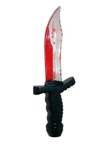 TrendClub100® Blutendes Messer für Halloween, rot Blut 25cm