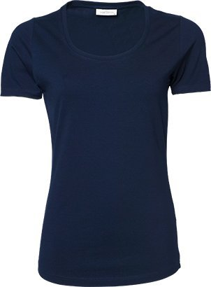 Navy Tee (Tee Jays Damen Ladies Stretch T-Shirt 450 Navy XXL)