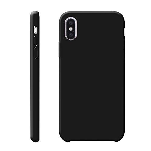 iProtect TPU Schutzhülle Apple iPhone X Softcase Silikon Rosa TPU Softcase Silikon Schwarz