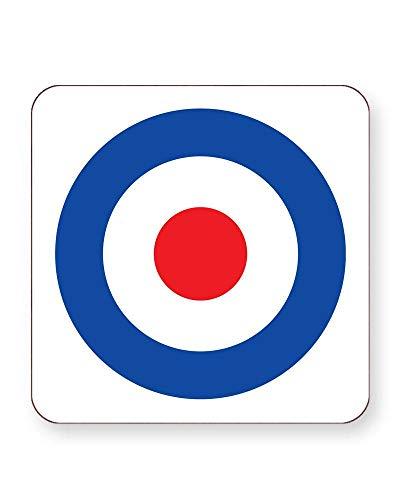 Mod Rocker Symbol - Subkultur - 60er Jahre - London - Getränkeuntersetzer - einzeln oder als 4er Pack - quadratisch oder rund, SQUARE Individual