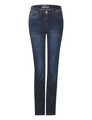 Cecil Damen Straight Jeans Blau (Mid Blue Used Wash 10314)